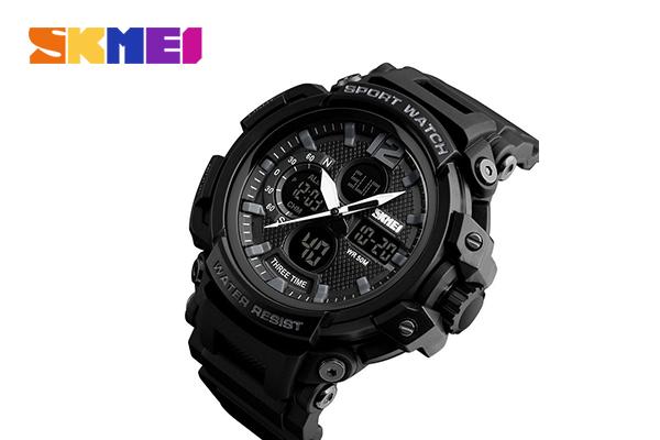 SKMEI นาฬิกาข้อมือ รุ่น SK1343 #Black เพียง 899 บาท จากปกติ 1,190 บาท