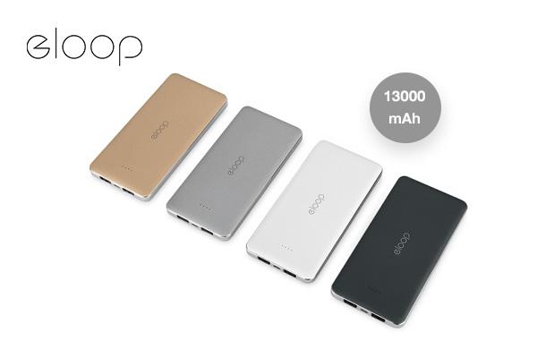 Eloop Powerbank รุ่น E13 ความจุ 13000 mAh เพียง 450 บาท จากปกติ 1,290 บาท